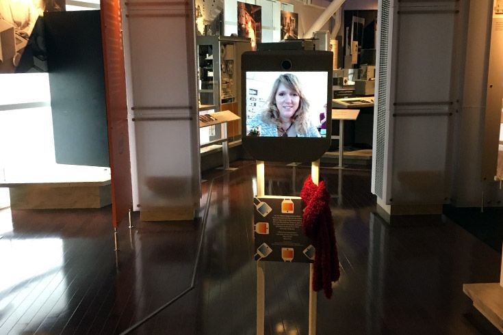 The Beam telepresence robot at the Computer History Museum.