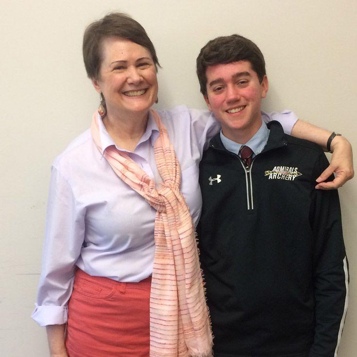 Severn School teacher with student.