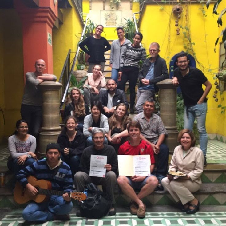 Severn School teacher with others in Guanajuato, Mexico.