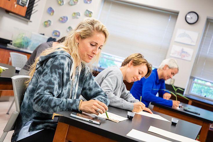Severn School teachers during a professional development workshop