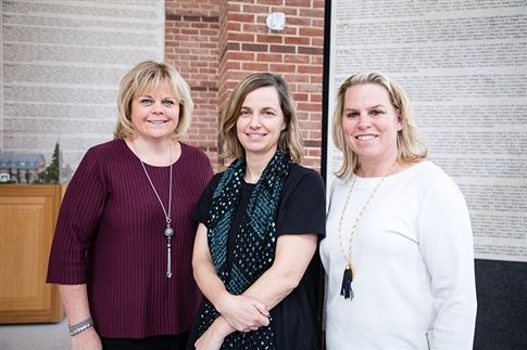 Wendy Jones '83, Kate Orff '89, Cathy Merrill Williams '87