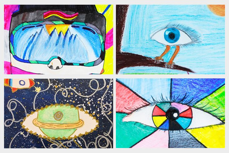"Middle School artwork featured in the spring edition of ""The Gazette"""