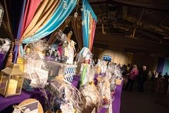 Silent auction items up for bid at Moroccan Moonlight.
