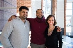 Darshan Kharod '03, Darren Smith '05 and Carrie MacVean Grimes '91