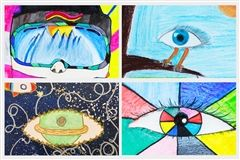 Middle School artwork featured in the spring edition of