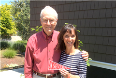 John Fisher '53 with Carrie MacVean Grimes '91