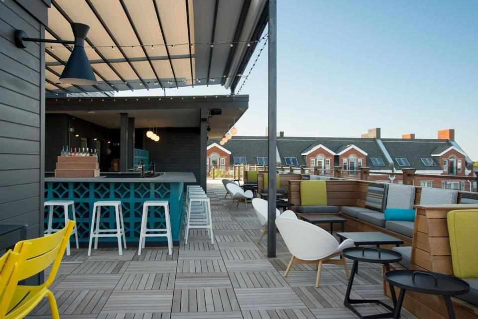 The rooftop bar at The Hotel Salem