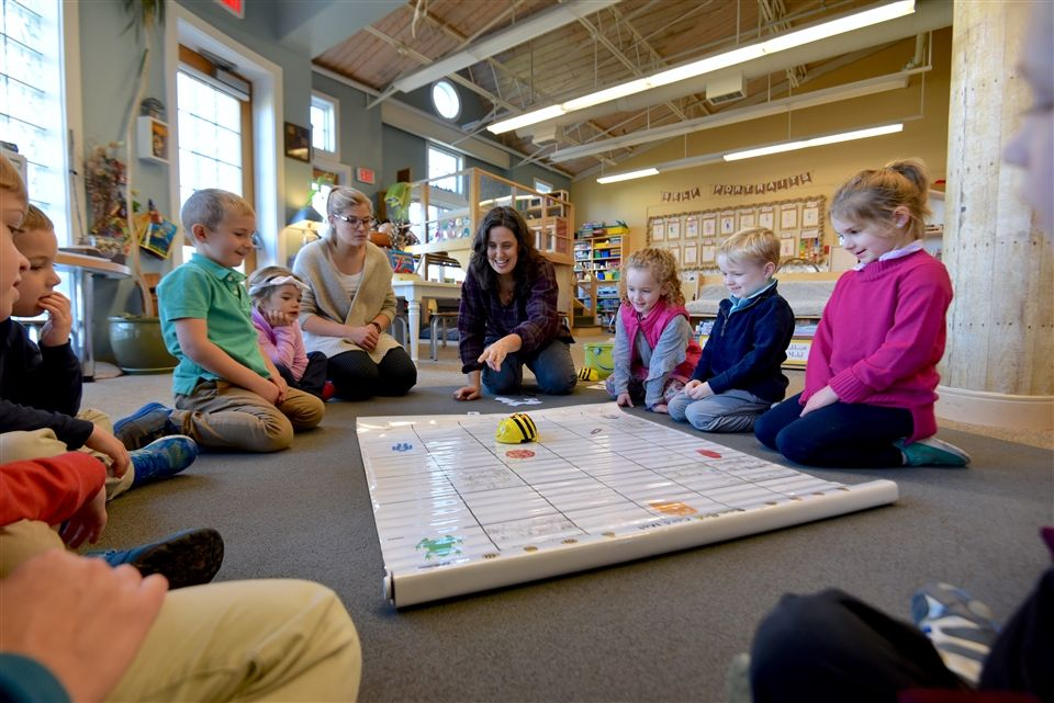 Codding explained BeeBots to Pre-K students.