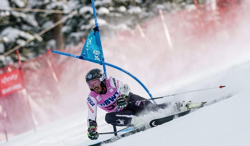 McLaughlin in World Cup competition at Beaver Creek in December 2018