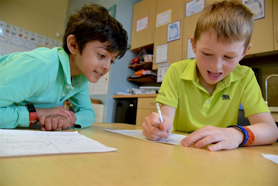Kindergartners wrote poetry together