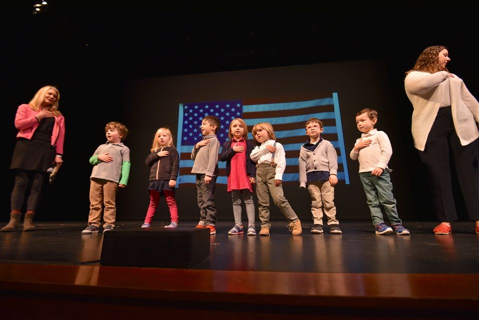 Pre-K 1 students took the stage
