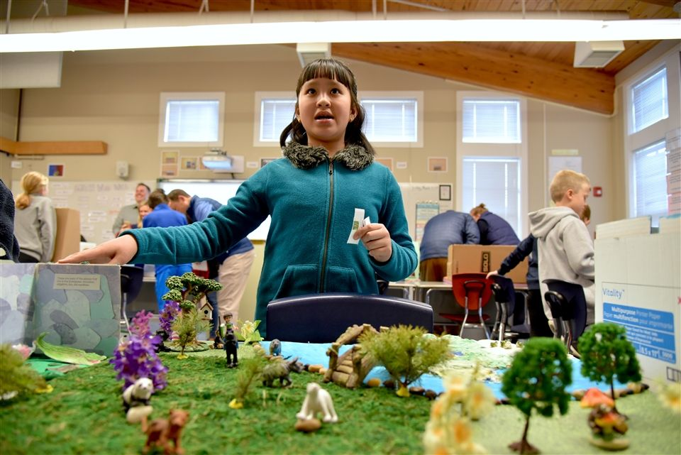 Fourth graders presented models of national parks
