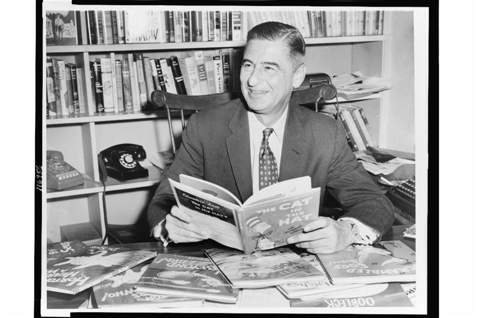 Dr. Seuss at his desk