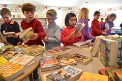 The annual book fair is paradise for Lower Schoolers