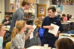 Seventh graders enjoyed an entire day of poetry and art