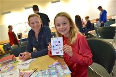 Creating cards for Beverly Hospital patients