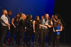 Gus Bowder-Newton '12 with UMass Amherst's Vocal Suspects
