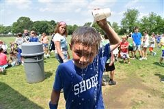 Relief from the sweltering heat during Field Day