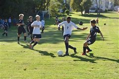 Junior varsity soccer players faced an opponent