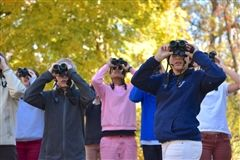 Middle schoolers on a bird-watching expedition