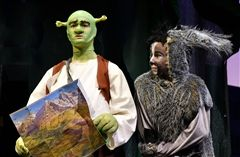 Alex Oder as Shrek with Myles Lopes as Donkey. All photos by Shore parent Paul Pelletier.