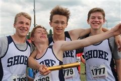 Aidan, Patrick, Alex, and Charlie: 4x100M Relay State Champions