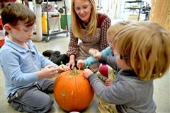 Pre-K 1 students investigated pumpkins