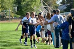 Varsity Boys Soccer players thanked fans