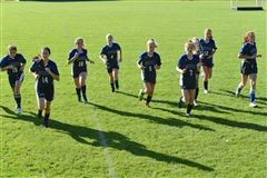 Girls Varsity Soccer players took the field