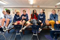Advisees share conversation.