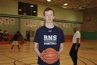 Caleb Sooley is a member of the RNS basketball team. Photo: Sean Mott/Telegraph-Journal
