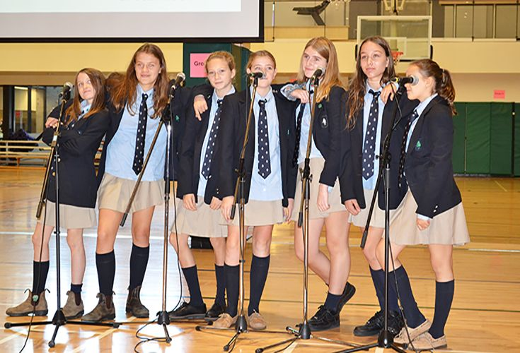 The Doo Wop Girls' performed the opening number 'Little Shop' on Visitors' Day