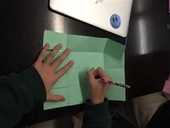 Students created their own rebellion boxes using construction paper