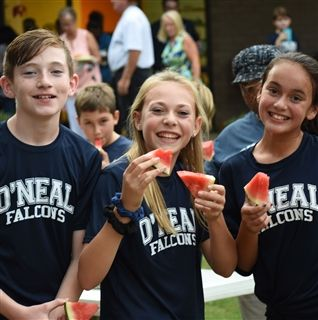 Middle School Students Enjoy the All School Picnic