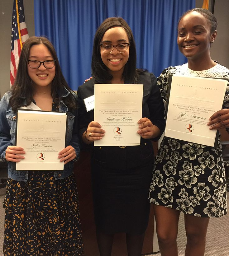 Three Kent Place Upper School Students Awarded Prestigious Princeton Prize in Race Relations