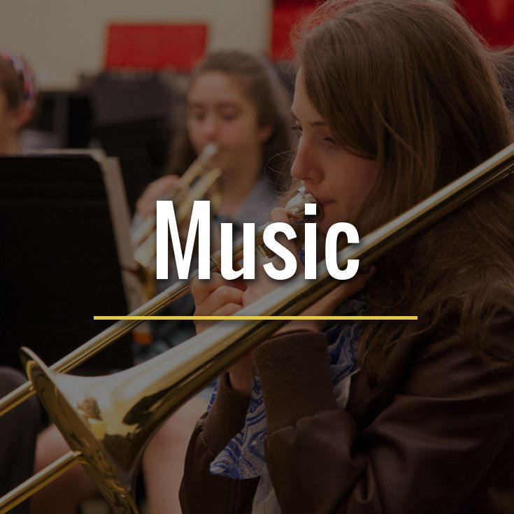 Students of all ages participate in many instrumental and choral opportunities.