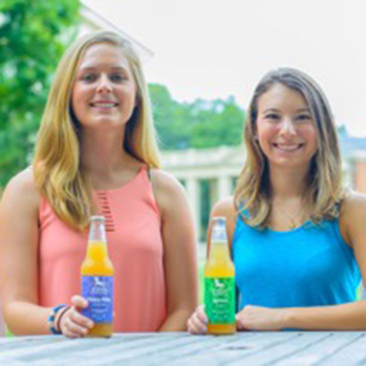 Olivia (Wake Forest University '16) and Lauren (Wake Forest University '17), Founders and Owners of UpDog Kombucha