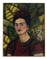 "Frida Kahlo, ""Self Portrait"", 1941, mixed media on paper"