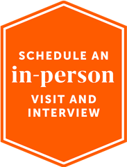 Schedule and In-person on campus tour and interview