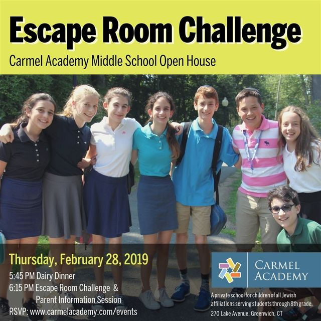 Middle School Escape Room Challenge & Open House
