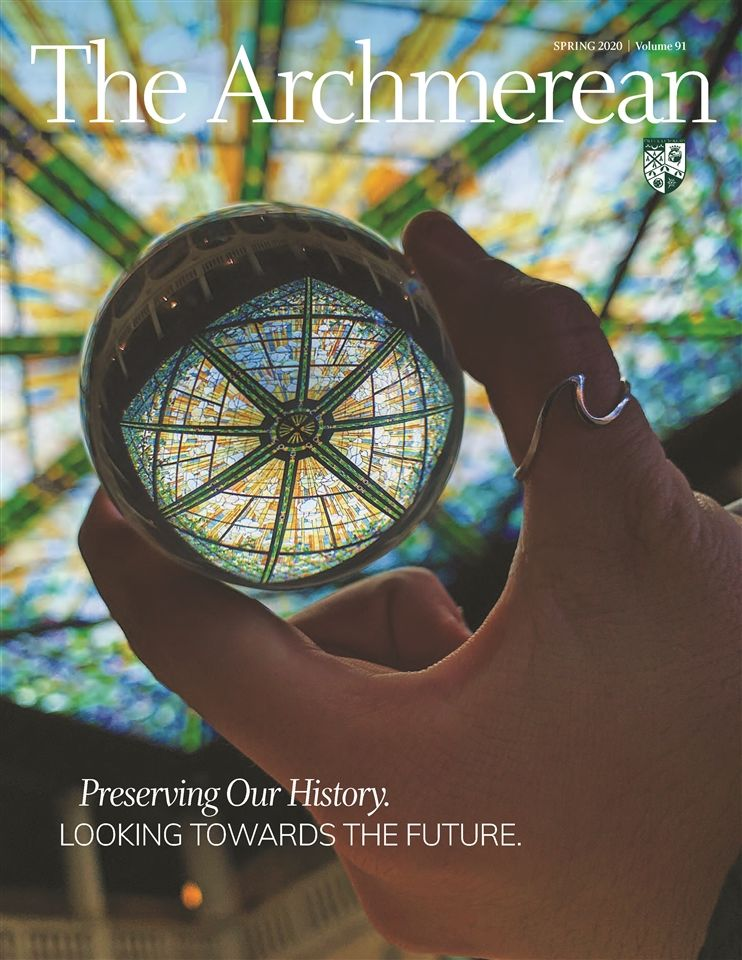 A photo of the cover of The Archmerean's Fall 2020 issue.