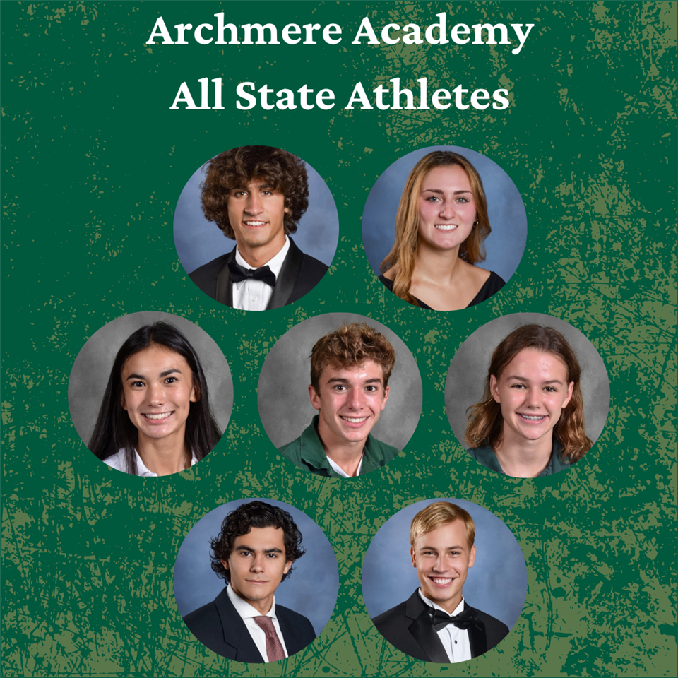 Archmere All-State Athletes
