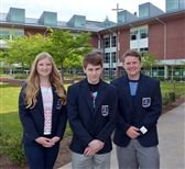 Three DECA students will compete in the International DECA competition. (L-R): Erin Cushen, Jack Ryan, Jack Morgan
