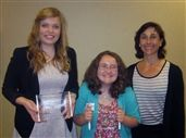 Bella Mancini, Sydney Weber and Ms. Jessum at the 35th Annual Issaquah Community Awards Banquet.