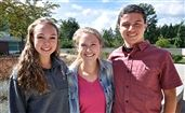 From left to right: Sarah Bosworth, Marina LaBossier, Andres O'Beirne. Not pictured: Sally Carroll '15