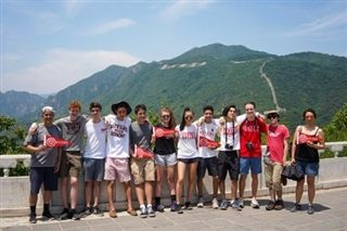 Students visited the Great Wall as they took in China's sights and culture.