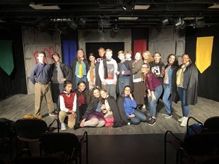 "A cast sizable in talent and number performs ""Puffs"" in the Black Box theater this week."