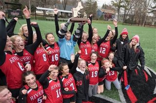 The field hockey team celebrated its NEPSAC victory.
