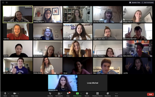 Rivers seniors met with their counterparts in France and elsewhere via Zoom.