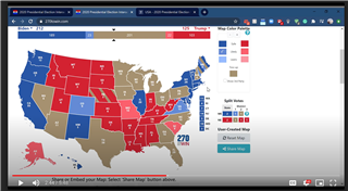 Predicting elections was the topic tackled by Aaron Weiner's video.